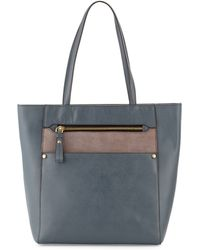 orYANY Daphne Saffiano Leather Tote Bag blue - Lyst