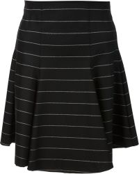 Alice + Olivia Striped A-Line Skirt - Lyst