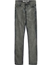 McQ by Alexander McQueen Low-Waist Skinny Distressed Jeans - Lyst