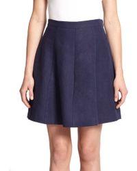 Joie Loudivine Pleated Linen Skirt - Lyst