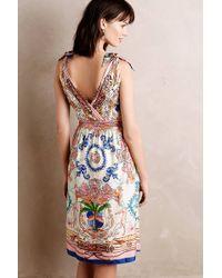 Collette Dinnigan - Tied Acionna Silk Dress - Lyst