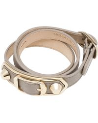 Balenciaga | Holiday Collection Classic Metallic Edge Bracelet Triple Tour | Lyst