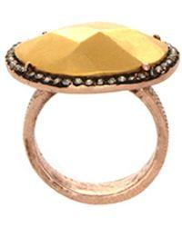 House Of Harlow 1960 Horizontal Sahara Sara Sand Ring gold - Lyst