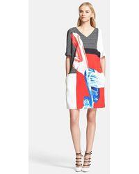 Prabal Gurung Print Jersey Shift Dress - Lyst