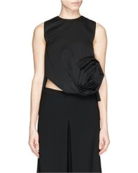 Chictopia - Origami Rose Wool Tank Top - Lyst