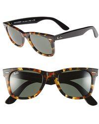 Ray-Ban Women'S 'Classic Wayfarer' 50Mm Sunglasses - Black Havana - Lyst
