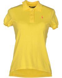 Ralph Lauren Yellow Sweater - Lyst