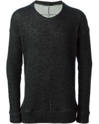 The Viridi-anne - Ribbed Crew Neck Sweater - Lyst