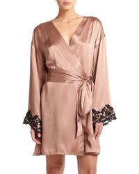 La Perla Vestaglia Corta Silk Robe - Lyst