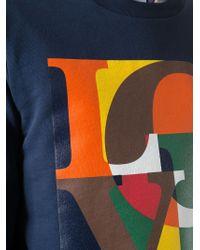 MSGM 'Love' Sweatshirt - Blue