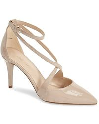 Nine West 'Peace Sign' Strappy Pointy Toe Pump - Lyst