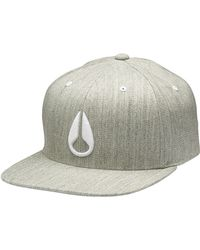 Nixon Deep Down Ff Athletic Grey Cap - Lyst