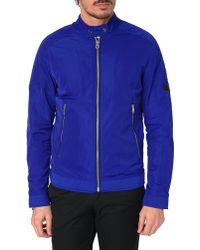 Diesel J-Eiko Royal Blue Nylon Jacket blue - Lyst