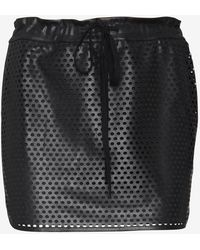 Bailey 44 Exclusive Perforated Leatherlike Tennis Skirt - Lyst
