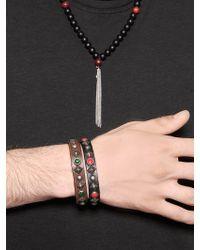 HTC Hollywood Trading Company - Studded Leather Bracelet - Lyst