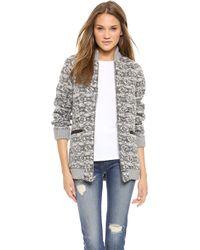 Thakoon Addition - Tweed Front Pocket Jacket - Black/Ivory - Lyst