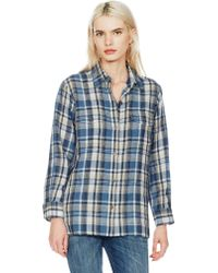 Current/Elliott The Perfect Shirt W blue - Lyst