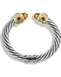 David Yurman Renaissance Bracelet with Citrine Iolite Rhodalite Garnet and Gold - Lyst