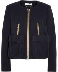 Chloé Wool and Angora Blend Jacket - Lyst