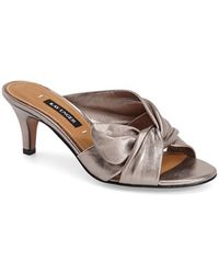 Kay Unger Mattea Slide Sandals - Metallic