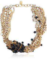 Maria Zureta - Black Beaded Multi Chain Necklace - Lyst