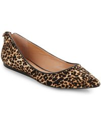 Vince Camuto Signature Leopard-Print Calfhair Ballet Flats - Lyst