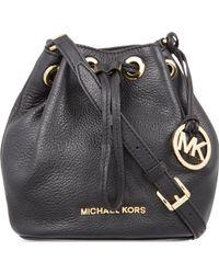 MICHAEL Michael Kors - Jules Mini Leather Drawstring Over The Shoulder Handbag - Lyst