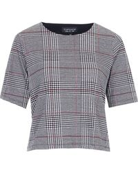 Topshop Prince Of Wales Check Tee - White - Lyst