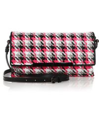 Christian Louboutin Rougissime Multicolor Woven Clutch - Lyst