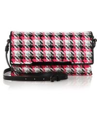 Christian Louboutin Rougissime Multicolor Woven Clutch pink - Lyst
