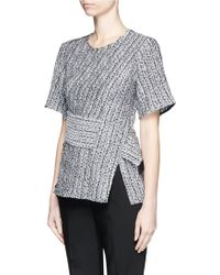 3.1 Phillip Lim | Cable Knit Effect Cloqué Jacquard Top | Lyst