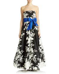 Eliza J Print Faille A Line Gown - Lyst