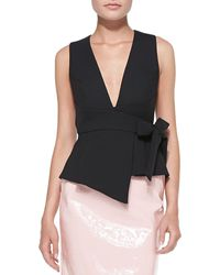 Marc By Marc Jacobs Sixties Tie-waist Sleeveless Top Black 0 - Lyst