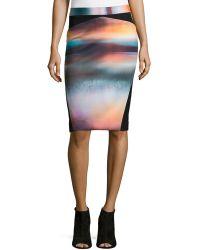 Nicole Miller Artelier - Ava Dreamscape Pencil Skirt - Lyst