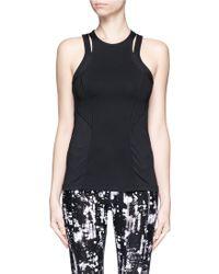 Calvin Klein | Slit Shoulder Mesh Back Tank | Lyst