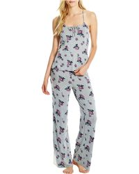 Jessica Simpson 2-piece Floral And Lace Set - Gray