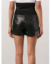 Alexandre Vauthier - Lambskin Leather Shorts - Lyst