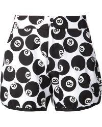 Jeremy Scott '8 Ball' Jogging Shorts - Lyst
