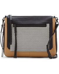 Vince Camuto Rhone Leather Cross-Body Bag - Lyst