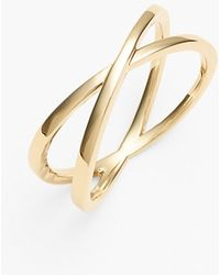 Bony Levy Women'S Crossover Open Ring - Yellow Gold (Nordstrom Exclusive) - Lyst