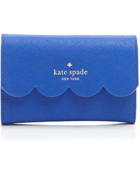 Kate Spade Wallet - Lily Avenue Kieran Tri-Fold blue - Lyst