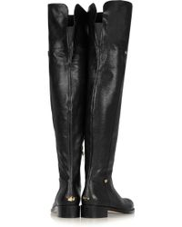 Jimmy Choo Deron Polished Leather Overtheknee Boots - Lyst