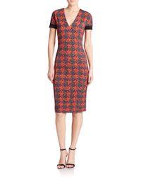 Just Cavalli Raspberry-Print Dress red - Lyst