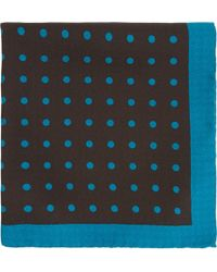 Barneys New York Polka Dot Pocket Square - Lyst