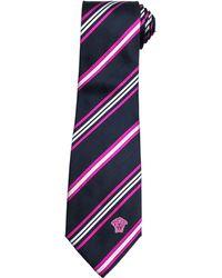 Versace Diagonal-Stripe Silk Tie - Lyst