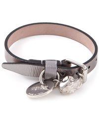 Alexander McQueen Skull Buckled Bracelet - Lyst