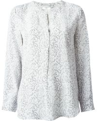 Joie Peterson Snake Printed Blouse - Lyst