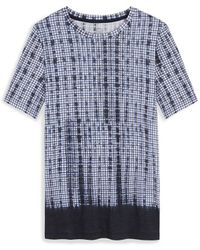 Tory Burch Blue Printed T-Shirt - Lyst