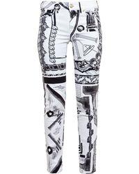 Versus  Printed Jeans - Lyst