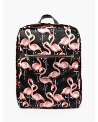 Marc Jacobs Flamingo-Printed Satin Backpack pink - Lyst